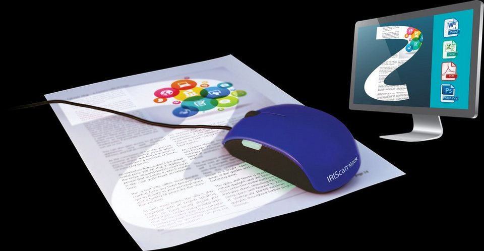 IRIS All-in-One-Mausscanner »IRIS IRIScan Mouse 2 (458124)« in blau