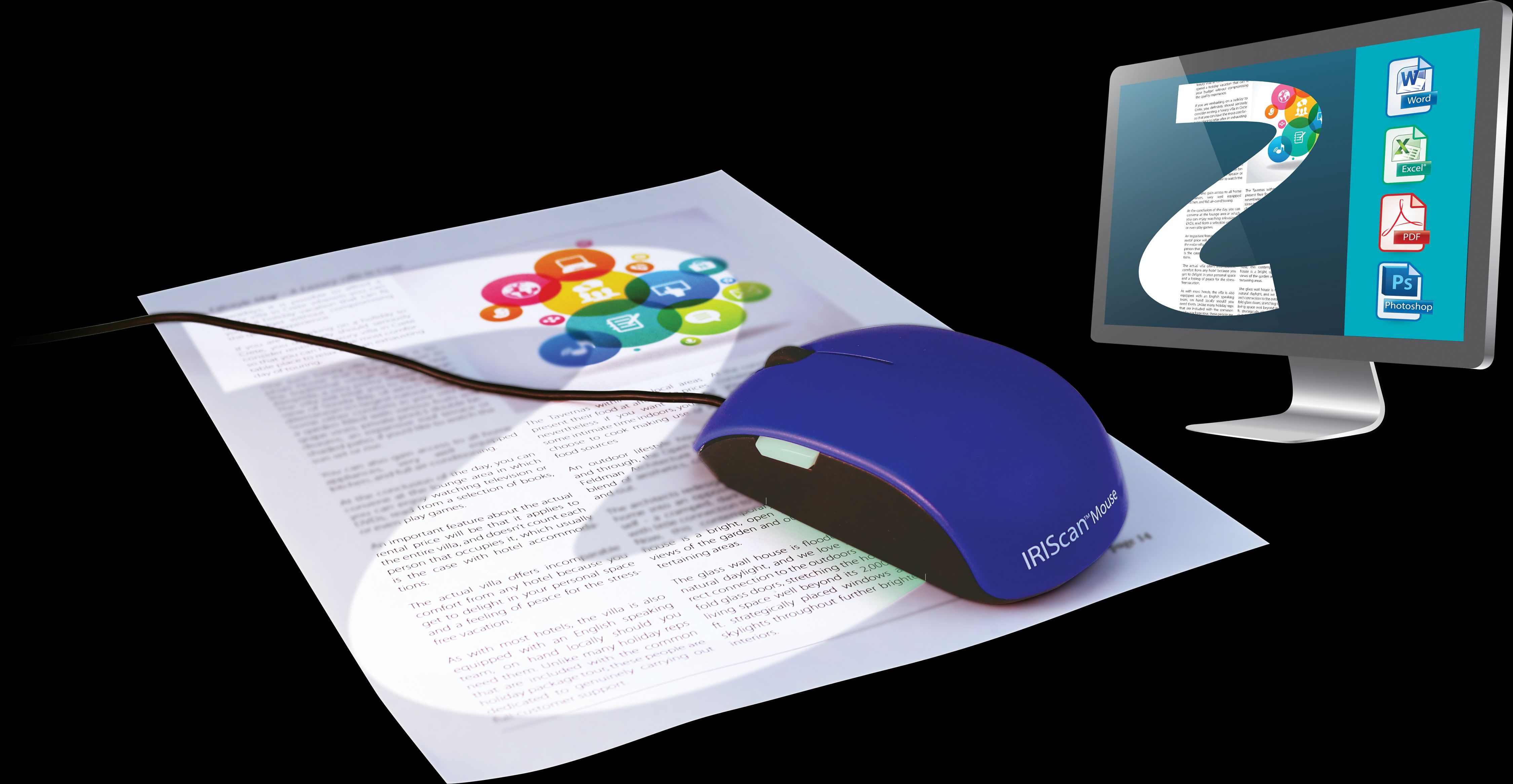 IRIS All-in-One-Mausscanner »IRIS IRIScan Mouse 2 (458124)«