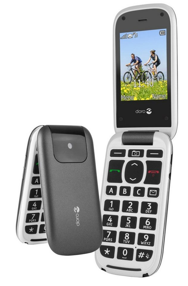 Doro Handy »PhoneEasy 613, Graphit-Weiß« in Anthrazit