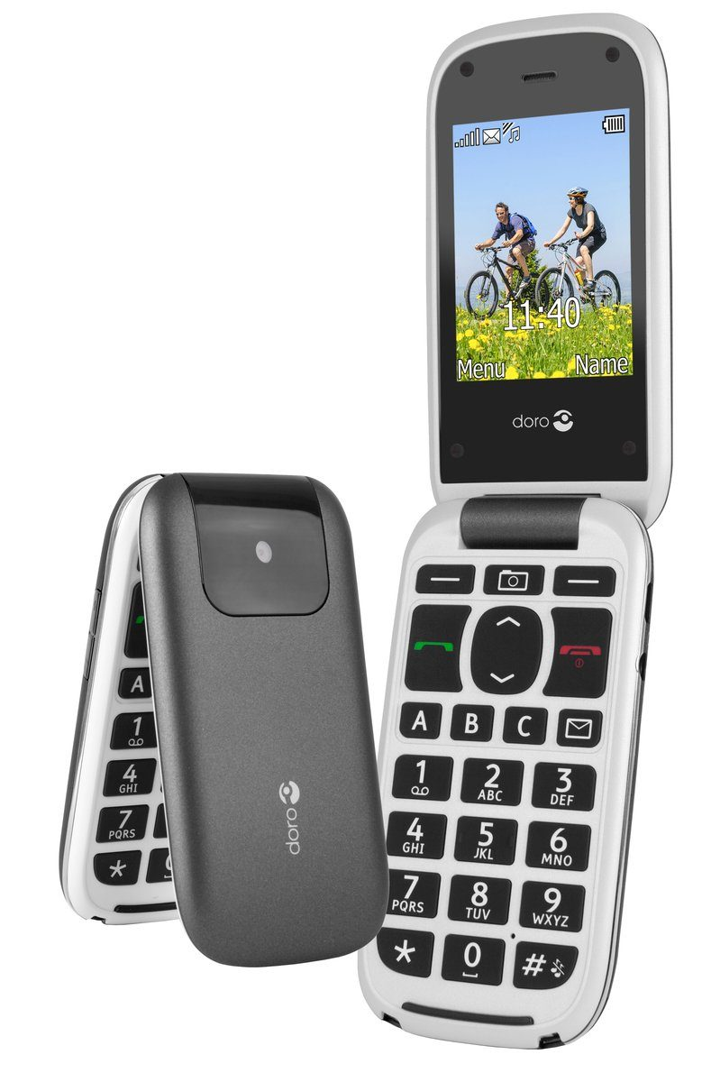 Doro Handy »PhoneEasy 613, Graphit-Weiß«