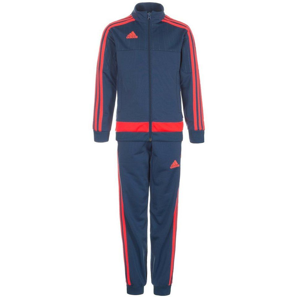 adidas Performance Set: Tiro 15 Polyesteranzug Kinder (Packung, 2 tlg.) in blau / rot