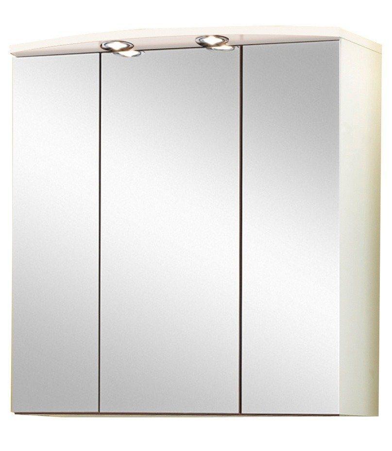 Held Möbel Spiegelschrank »Salerno« Breite 70 cm, mit Beleuchtung in weiß