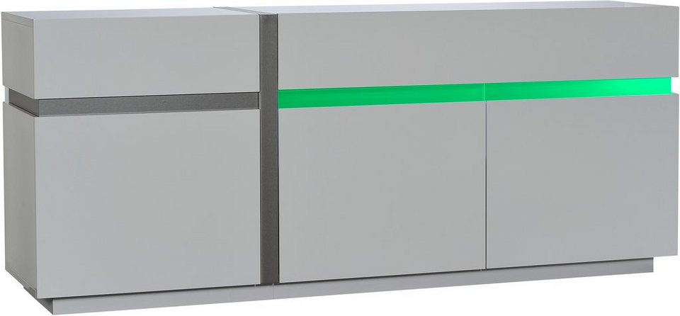 Sideboard, S.C.I.A.E., »Cross«, Breite 200 cm in weiß