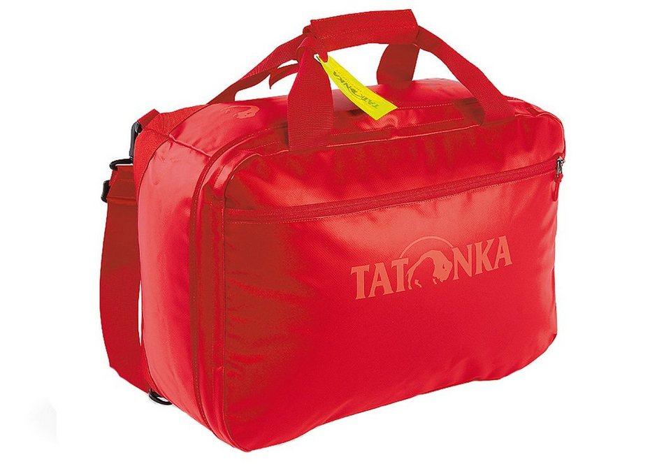 Flugumhänger mit Rucksackfunktion, »Flight Barrel«, TATONKA® in red
