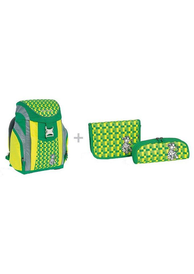 Schulrucksack Set, »School Pack Light-Set«, TATONKA® (3tlg.) in gentle tiger