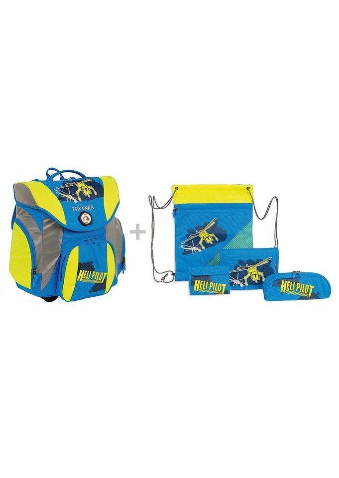 Schulranzen Set, »School Pack Plus-Set«, TATONKA® (5tlg.) in heli pilot