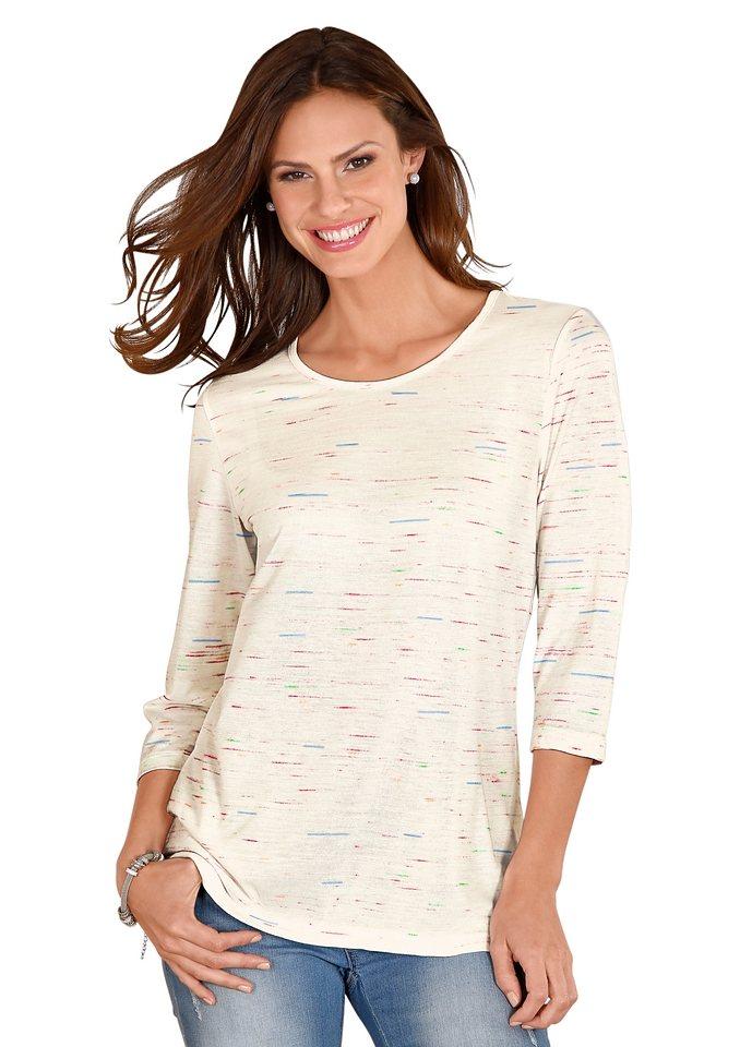 Classic Basics Shirt mit bunten, eingearbeiteten Fäden in bunt-gemustert