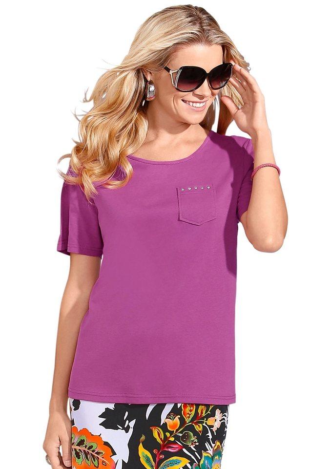 Classic Basics Shirt mit Rundhals-Ausschnitt in pink