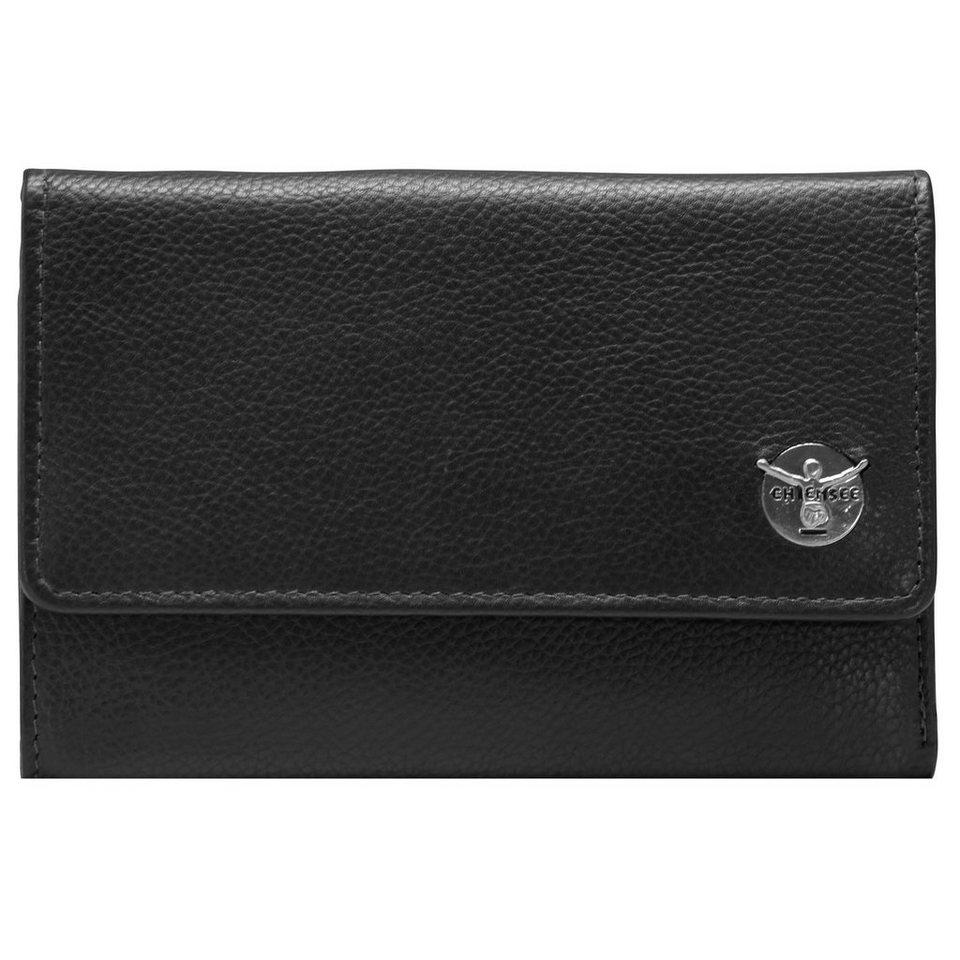 Chiemsee Classic Geldbörse Leder 15 cm in schwarz