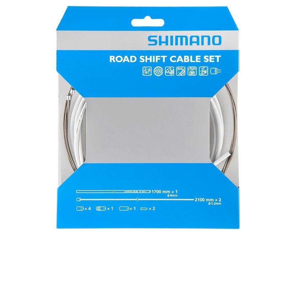 Shimano Schaltung »Race Schaltzugset weiss«