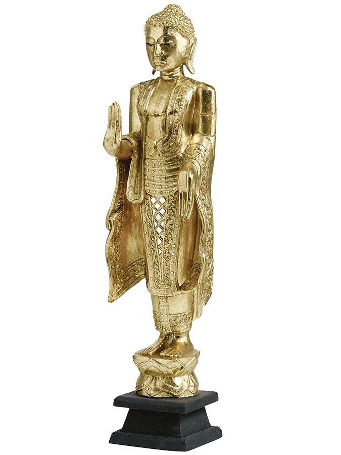 Buddha-Figur in goldfarben