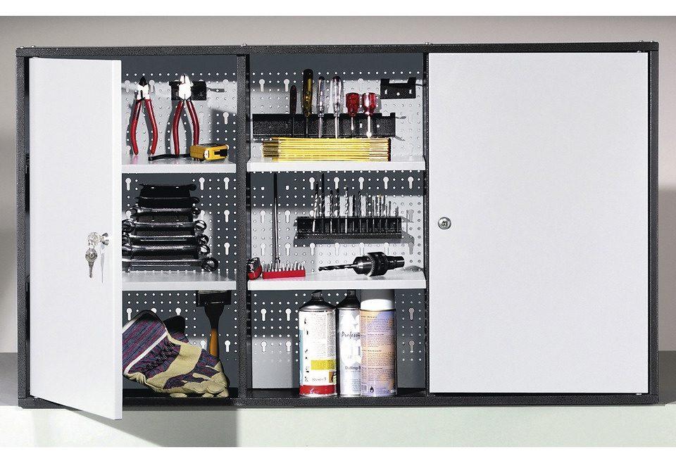 Werkzeugschrank, 2 Türen, weiß