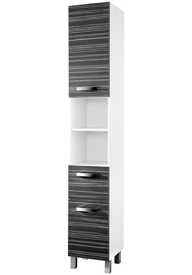 SCHILDMEYER Hochschrank »Tuja«, Breite 32,5 cm in weiß/schwarz