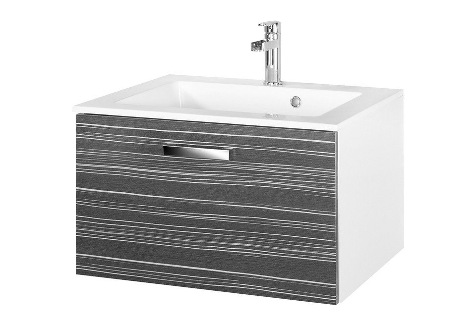 Waschtisch »Tuja« 65 cm  in weiß, schwarz