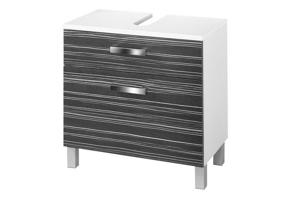 Waschbeckenunterschrank »Tuja« 65 cm in weiß/schwarz