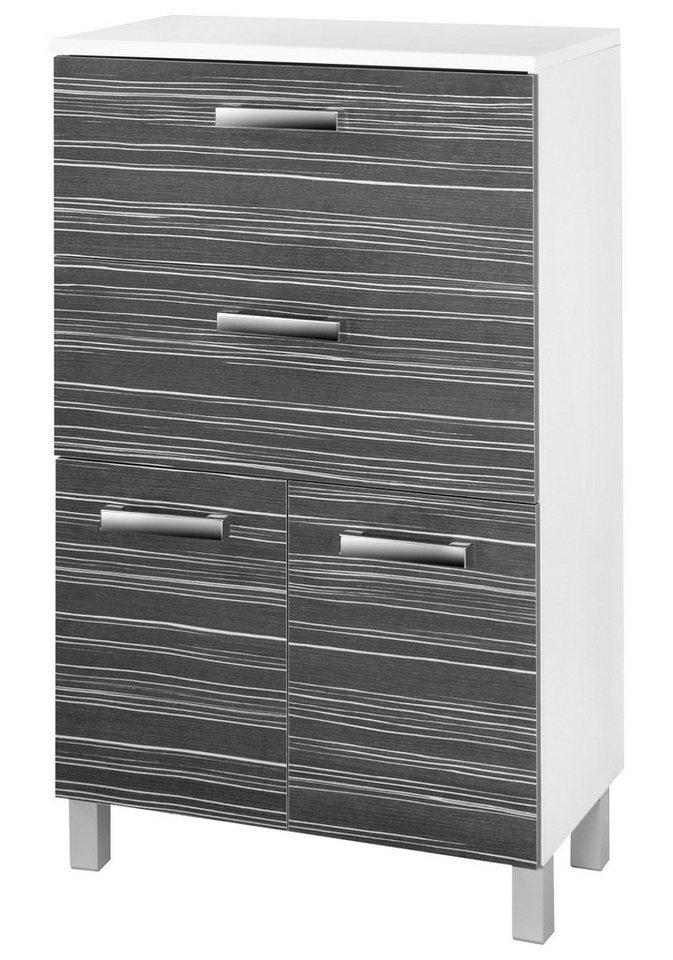 SCHILDMEYER Midischrank »Tuja«, Breite 65 cm in weiß/schwarz