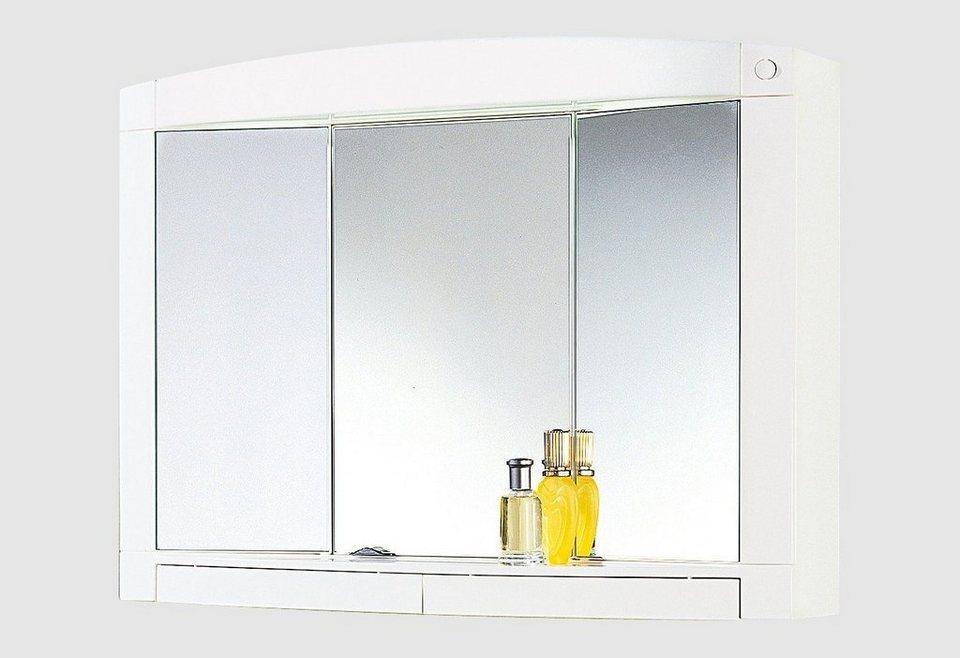 Spiegelschrank »Swing« Breite 76 cm, mit Beleuchtung in weiß