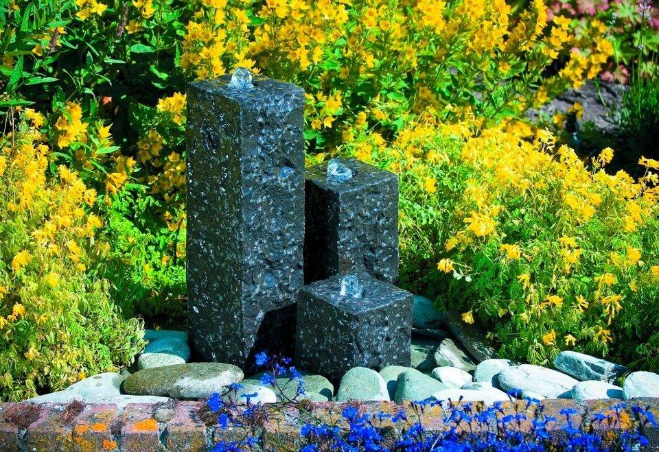 Komplett-Set: Gartenbrunnen »Modena« in grau
