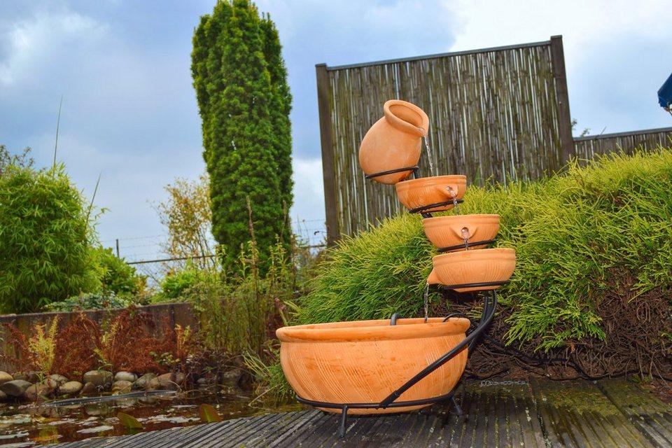 Gartenbrunnen »Kaskadenbrunnen« in orange