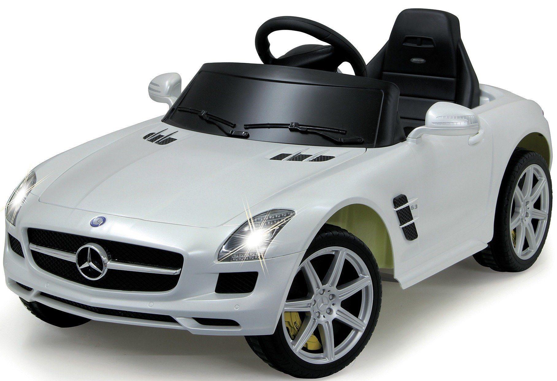 JAMARA KIDS Elektroauto »Ride-On Mercedes SLS AMG«, weiß, inkl. Fernsteuerung