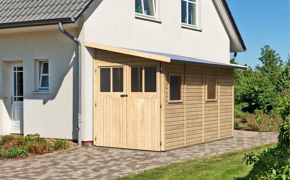 Gartenhaus »Wandlitz 4«, BxT: 181x352 cm in natur