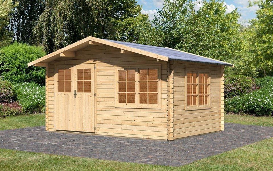 Set: Gartenhaus »Hardenberg 1«, BxT: 370x280 cm in natur