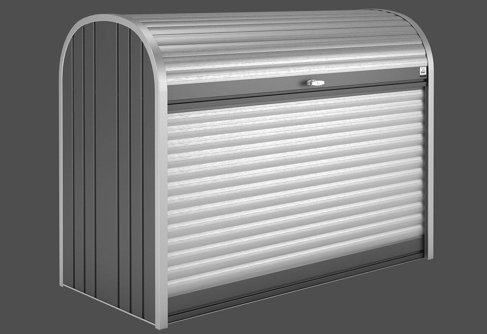 BIOHORT Rollladenbox »StoreMax 160«, B/T/H: 163/78/120 cm in grau