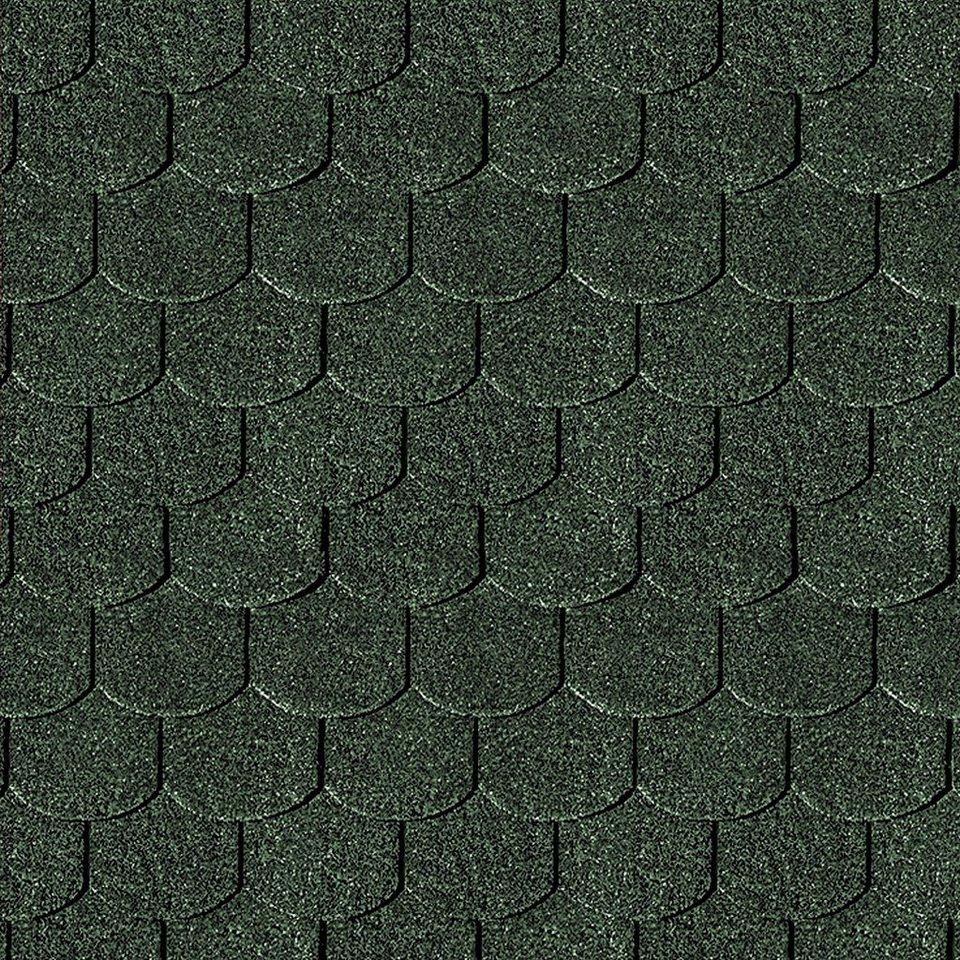 Biberschwanz-Dachschindeln, grün in grün