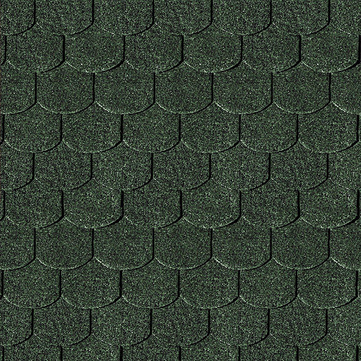 Karibu Biberschwanz-Dachschindeln, grün