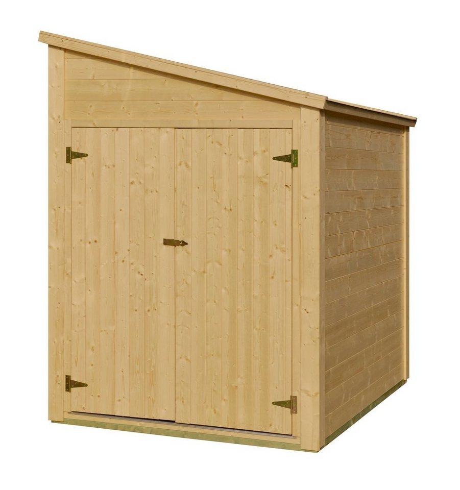 LUOMAN Fahrradunterstand »BIKE-BOX«, BxT: 210x150 cm in natur