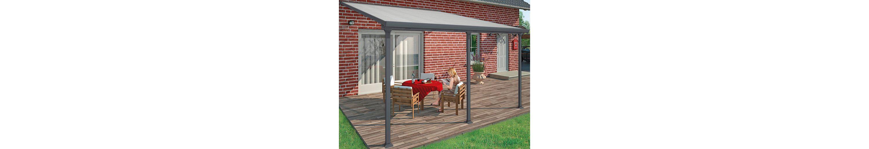 Terrassendach, grau (BxT: 546 x 295 cm)
