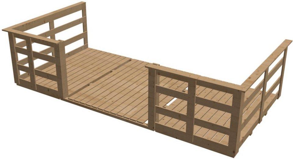 Terrasse, für Hausbreite: 400 cm in Natur
