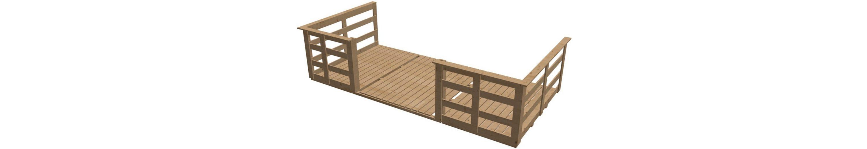 Terrasse, für Hausbreite: 400 cm