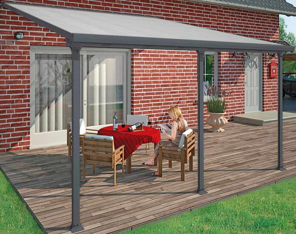 Terrassendach, grau (BxT: 425 x 295 cm) in grau