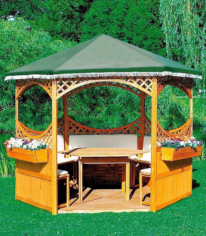 Promadino Holzpavillon »Palma« in braun