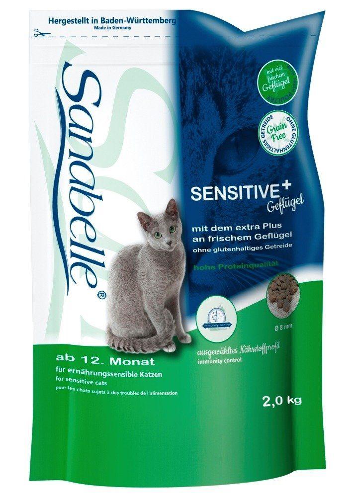 Sanabelle Katzentrockenfutter »Sensitive + Geflügel«, 2 kg oder 10 kg