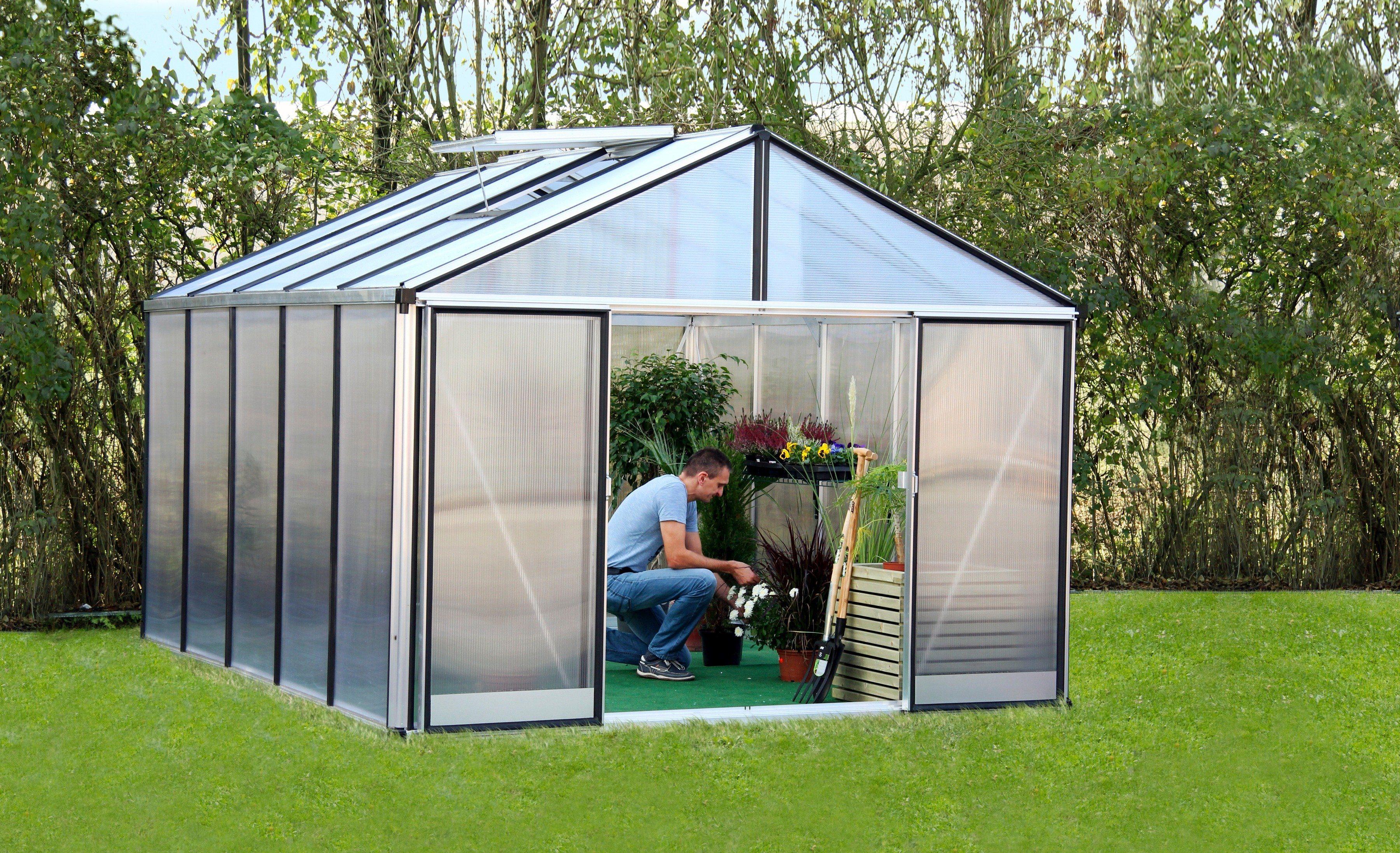 Gartenpro Gewächshaus »Profi 21 DT«, BxT: 306x236 cm mit 16 mm HKP