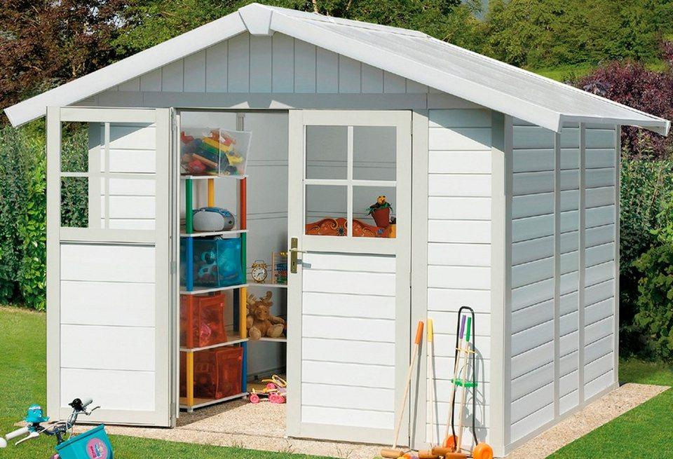 Kunststoffhaus »Deco H 4,9«, BxT: 242x202 cm in weiß