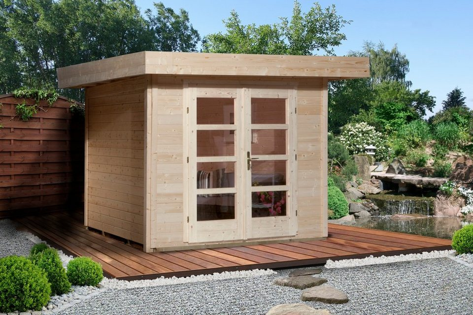 Weka Gartenhaus »Chillout«, BxT: 295x240 cm, inkl. Fußboden, in 2 Farben in natur