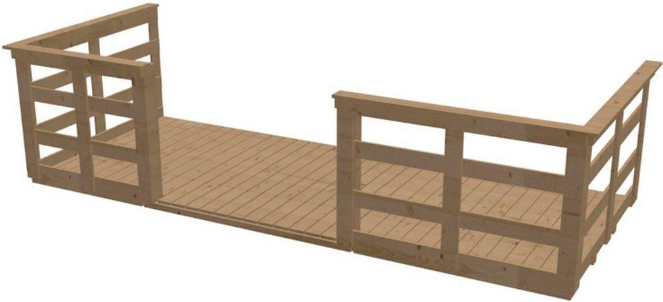 Terrasse, für Hausbreite: 370cm in Natur