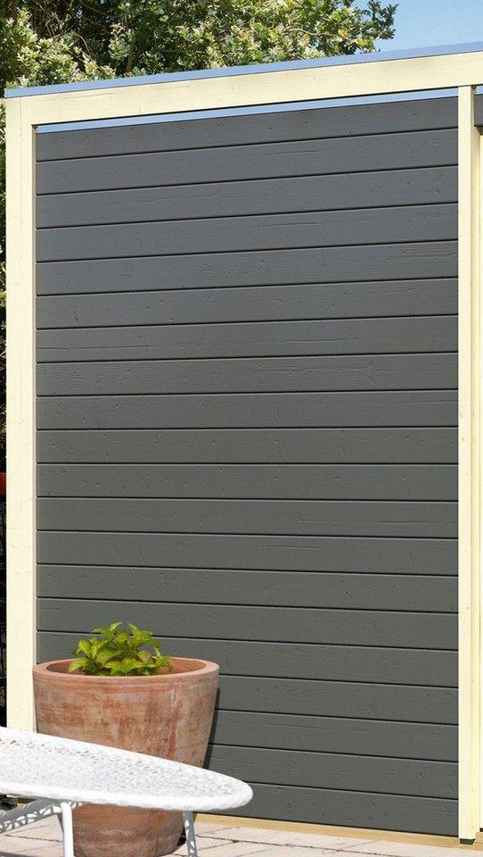 KARIBU Seitenwand , BxH: 180x227cm in Terragrau