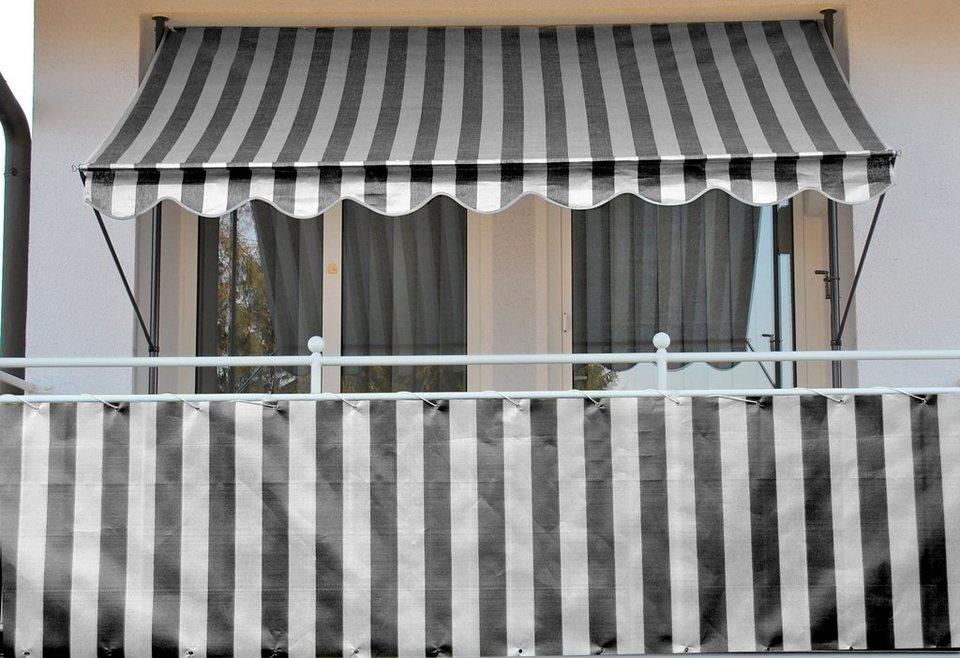 Balkonsichtschutz »Polyethylen, anthrazit« in 2 Breiten in grau