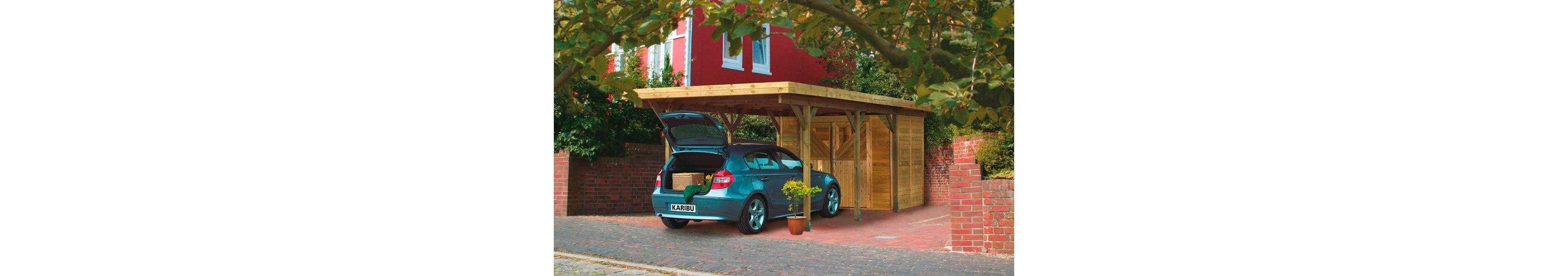 Set: Einzelcarport »Einzelcarport Classic 2«, PVC-Dacheindeckung, inkl. Seiten-und Rückwand