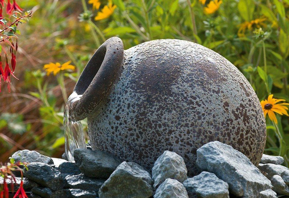 Set: Gartenbrunnen »Orange« (6-tlg.) in grau