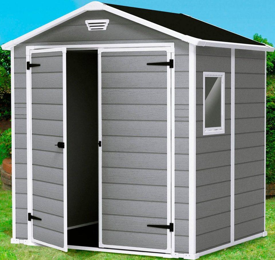 Kunststoffhaus »Manor 6x8«, DUO TECH, BxT: 175x222 cm in grau/weiß