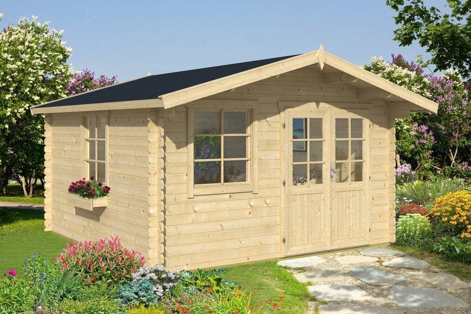 nordic holz gartenhaus klingenberg 1 bxt 300x300 cm 28 mm online kaufen otto. Black Bedroom Furniture Sets. Home Design Ideas