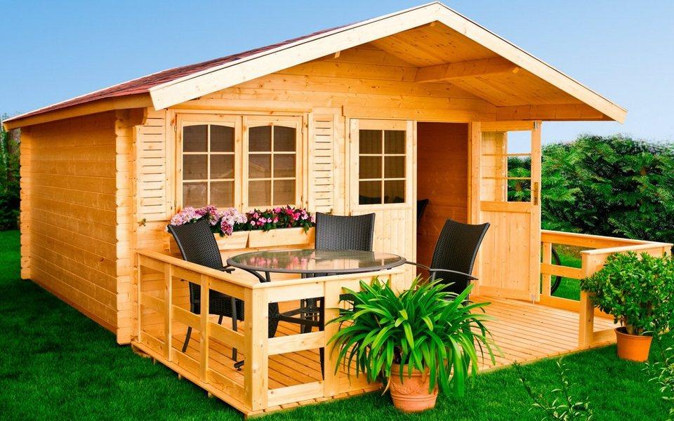 LUOMAN Gartenhaus »Lillevilla 280«, BxT: 380x380 cm, 28 mm in natur