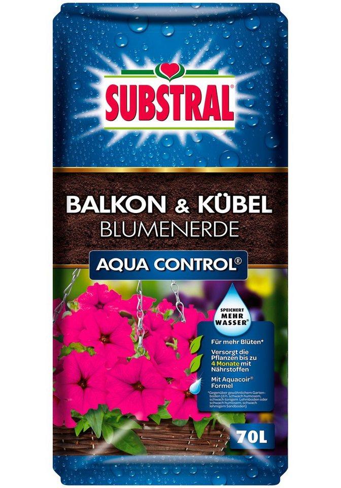 Balkon & Kübel Blumenerde Aqua Control in braun