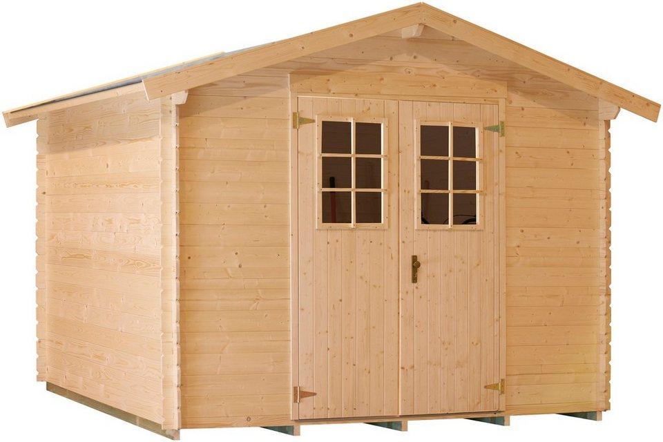 LUOMAN Gartenhaus »Lillevilla 143-0«, BxT: 260x260 cm, 19 mm in natur
