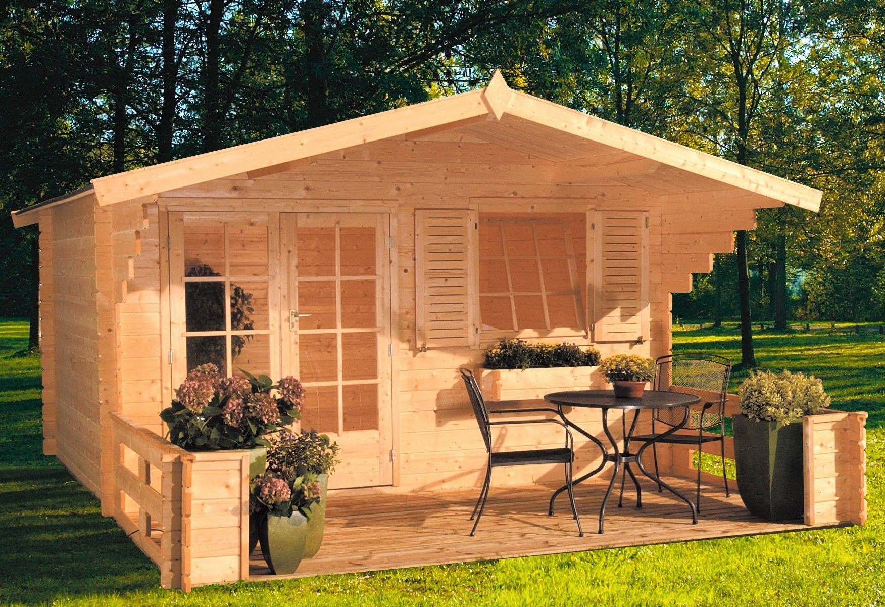 OUTDOOR LIFE PRODUCTS Gartenhaus »Orlando«, BxT: 380x280 cm, 28 mm